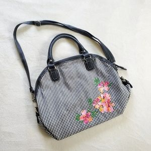 Floral Plaid Overnight Bag
